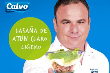 Lasaña abierta de atún claro Calvo Ligero