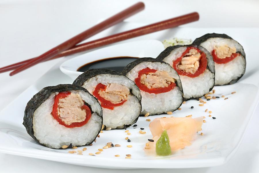 Sushi maki de atún claro Calvo Ligero en aceite de oliva