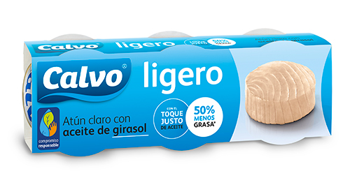 Atún claro Ligero con aceite de girasol