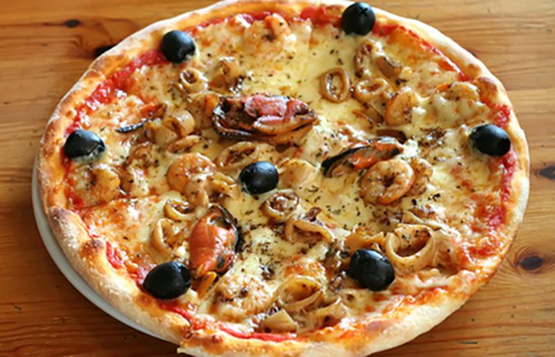 Pizza de Mejillones