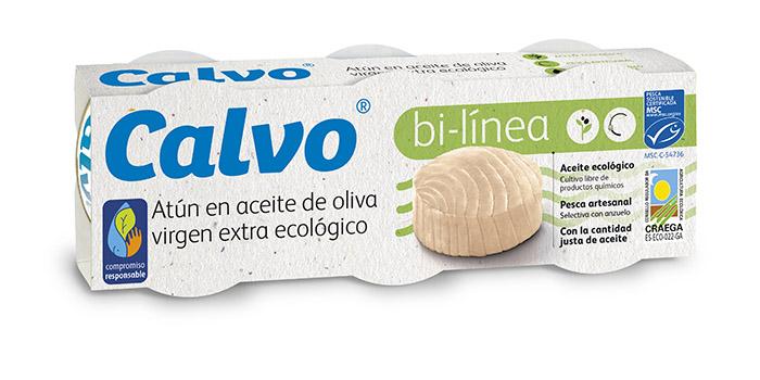 Atún Calvo bi-línea en aceite de oliva virgen extra ecológico