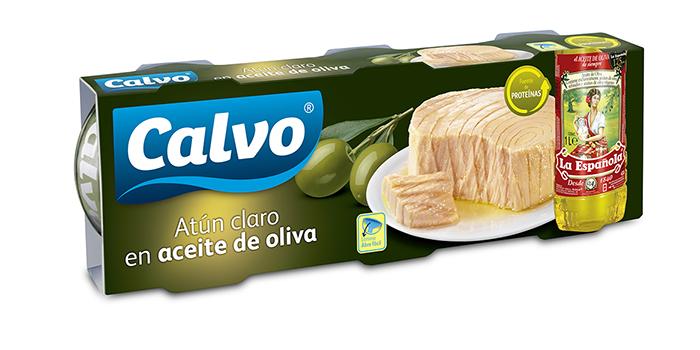 Atún claro Calvo en aceite de oliva La Española