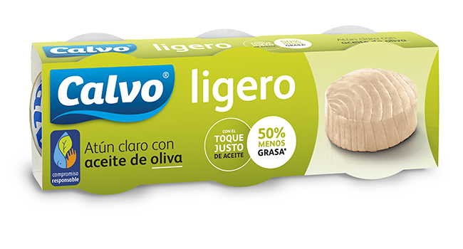 Atún claro Ligero en aceite de oliva Calvo