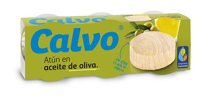 Atun listado en aceite de oliva Calvo