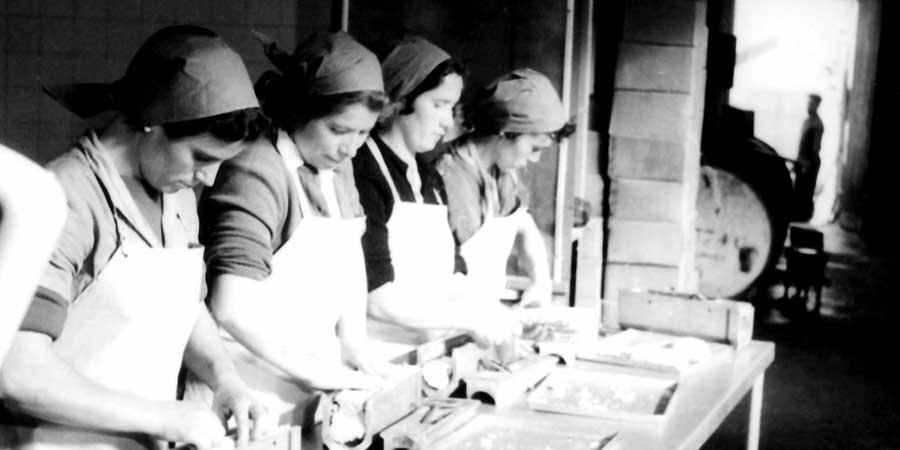 El trabajo en la primera fábrica de Calvo
