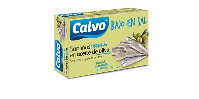 Sardinillas Calvo en aceite de oliva bajo en sal