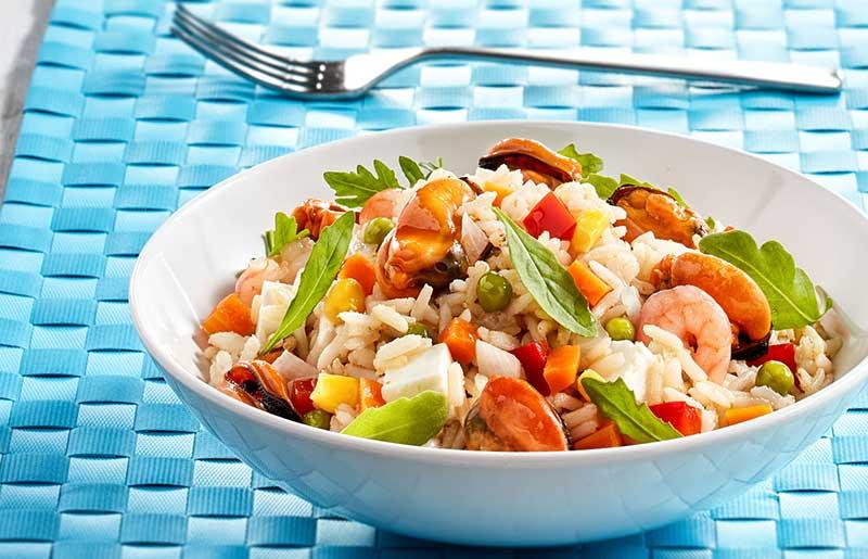Ensalada marinera Calvo con arroz
