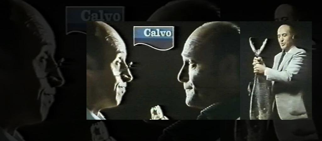 1980 Calvo lanza con éxito su primer anuncio