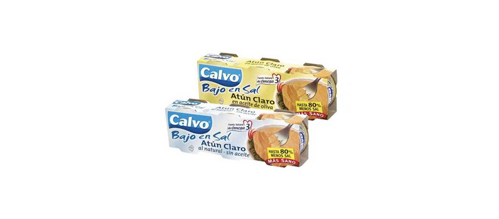 2001 Calvo lanza la primera conserva baja en sal