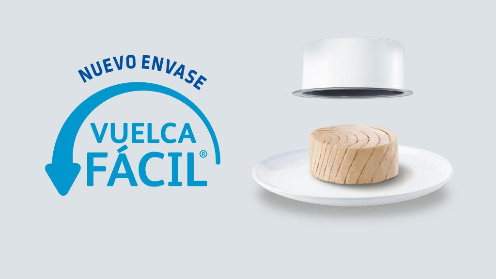 Con el envase Vuelca Fácil de Calvo, el atún sale solo